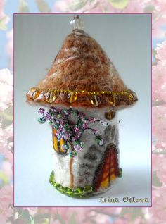 Mini Felted Fairy House by irina-beresta