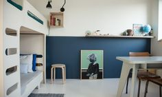 The Socialite Family | Chez Tessa #design #deco #decoration #interieur #interior #lifestyle #artdevivre #amsterdam #inspiration #scandinave #scandinavian #wood #bois #bleu #blue #paint #peinture #wall #Mur #toys #jouets #kidsroom #bunkbed #litsuperposé #chambre #enfant #thesocialitefamily