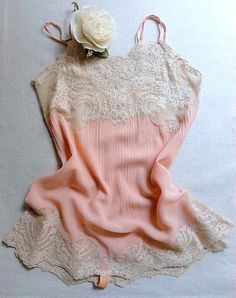Vintage lingerie 1920s peach silk georgette teddy by VanitiesFair