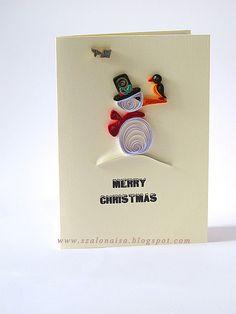 Christmas Craft идеи: квиллинг рождественские открытки   сделать ручной работы, вязание крючком, ремесла