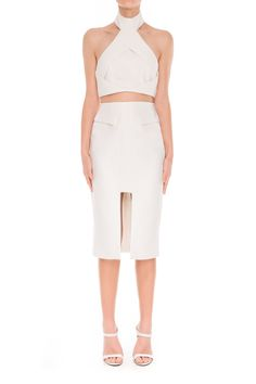 Finders Keepers SHAPESHIFTER SKIRT WHITE - BNKR