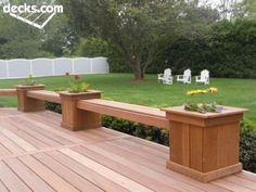 decks with planter box bench | Planter Boxes with Bench seating