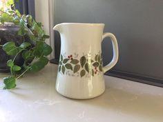 Vintage Figgjo Creamer Jug - Brazil pattern leaves and berries