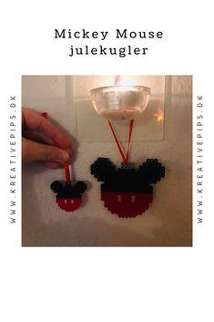 Lav Mickey Mouse julekugler i to størrelser perler Mickey Mouse, December, Diy, Hama, Creative, Bricolage, Michey Mouse, Diys, Handyman Projects