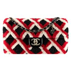 black, red white Chanel ❤ liked on Polyvore featuring bags, handbags, red bag, handbag purse, chanel bags, red handbags and chanel purse