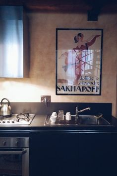 Airbnb in Genoa - the kitchen. See the rest on the Feioi blog!