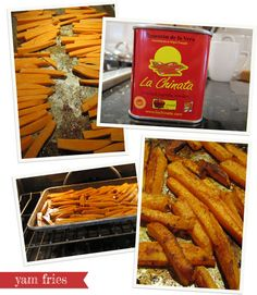 kid friendly Baked Yam Fries a healthy approach to French fries!