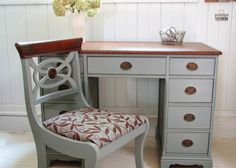 An Antique Desk Makeover - my fantastic Craigslist and curbside finds. You won't believe the before! #prodigalpieces