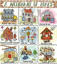 Dictionary of Homes Cross Stitch Kit from Bothy Threads from £28.50