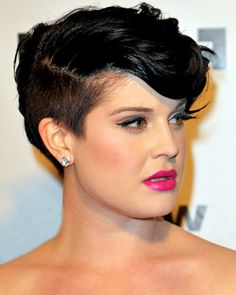 undercut, lashes, hair color, pink lip, LOVE IT ALL!!! <3 especially Kelly! :))