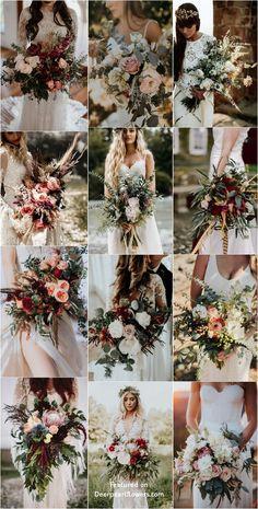 Bohemian wedding bouquet and flowers #weddings #weddingbouquets #weddingideas #bohemian #boho #greenery #weddingflowers #weddinginspiration #dpf #deerpearlflowers