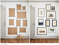 Gallery Wall Bedroom, Gallery Wall Layout, Gallery Wall Frames, Bedroom Wall, Frames On Wall, Bedroom Frames, Wall Frame Layout, Photo Gallery Walls, Wall Ideas For Bedroom
