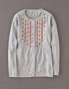 Embroidered Spot Cardigan