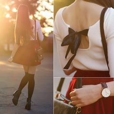 Get this look: http://lb.nu/look/7803242  More looks by Ariadna Majewska: http://lb.nu/ariadna92  Items in this look:  White Top, Burgundy Skirt, Black Leather Boots   #elegant #romantic #vintage