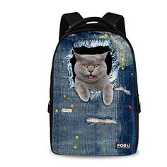 """New Trending Briefcases amp; Laptop Bags: HUGSIDEA Vintage Women Travel Laptop Denim Backpack Girls Cat School Bags. HUGSIDEA Vintage Women Travel Laptop Denim Backpack Girls Cat School Bags  Special Offer: $39.99  399 Reviews Welcome to HUGSIDEA;""""hug creativity,hug life"""",HUGSIDEA bring you into a magic kingdom. – Durable high quality 3d pattern backpack,smooth double zippers...."""