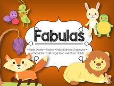 Looking for fables and activities in Spanish? Look no further, you have found them!In this 24 page *FABLE PACK* you will find everything you will need!