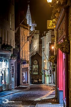 Night in Guernsey, Channel Islands