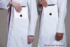 Fashionable and Feminine iPad Lab Coats for Women