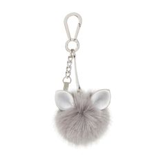 DUNE ACCESSORIES JERRY - Cat Ear Pom Pom Key Ring - grey | Dune Shoes Online