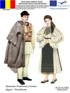 Romanian traditional clothes Young Frankenstein, Stylish Dresses, Bulgaria, Fashion History, Traditional Dresses, Ukraine, Fur Coat, Costumes, 1 Decembrie