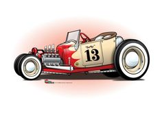 Excellent hot rod cars info is readily available on our web pages. Check it out and you wont be sorry you did. Rat Fink, Car Drawings, Cartoon Drawings, Cartoon Art, Weird Cars, Cool Cars, Hot Rods, Carros Retro, Rockabilly Art