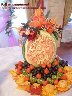 Fruit Displays For Weddings | visit garnishfood blogspot com