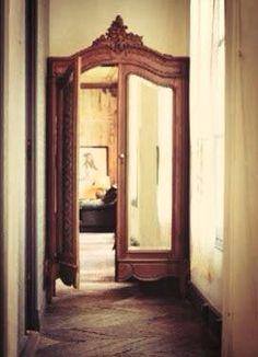 Armoire doors used for door