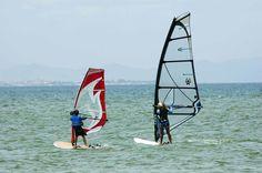 Practica de deportes en Playa El Yaque
