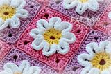 This is a crochet PDF pattern for Crochet Flower Baby Blanket. The pattern is very detailed and is written in standard American terms. The blanket that you can create with this pattern measures about 35 x 29 inches x 74 cm). Crochet Fabric, Love Crochet, Crochet Motif, Beautiful Crochet, Crochet Crafts, Crochet Flowers, Crochet Baby, Crochet Projects, Ravelry Crochet