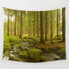 A Fairytale Forest III Wall Tapestry