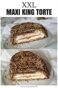 Kinder Maxi King Torte – No Bake Torte / Kühlschranktorte - Cook Bakery Easy Cake Recipes, Healthy Dessert Recipes, Donut Recipes, Torte Au Chocolat, No Cook Desserts, Easter Desserts, Food Cakes, No Bake Cake, Bakery