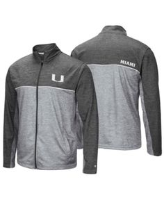 Colosseum Men s Miami Hurricanes Reflective Full-Zip Jacket - Gray S b38e62418