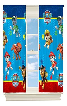 """Includes 1 panel only This Paw Patrol Room Darkening Panel is 42""""x63"""" with a 2 inch rod pocket This panel is made of 100% polyester. toys4mykids.com"""