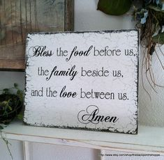 BLESSING SIGN 10 x 12 Shabby Cottage Kitchen Signs