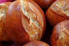 German-Style Rolls:  Brotchen (the crusty secret is an egg white glaze)