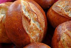 German-Style Rolls:  Brotchen (the crusty secret is an egg white glaze)