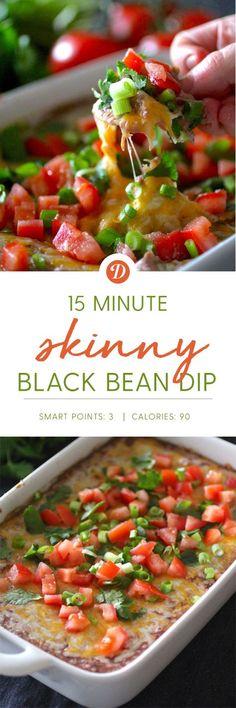 15 Minute Skinny Black Bean Dip