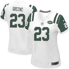 Elite Womens Nike New York Jets #23 Shonn Greene White Color NFL Jersey$109.99