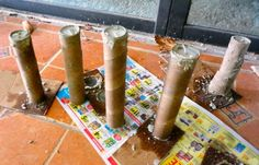 DIY TALL CONCRETE TEA LIGHT CANDLE STICKS - Do-It-Yourself Fun Ideas Concrete Candle Holders, Diy Concrete Planters, Diy Candle Holders, Diy Candles, Tea Light Candles, Tea Lights, Cement Art, Concrete Crafts, Concrete Projects
