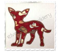 $2.95Applique Chihuahua Dog Silhouette Machine Embroidery Design