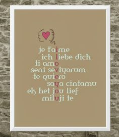 te quiero - i love you print