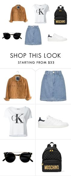 MOschinO by d-divaa on Polyvore featuring Calvin Klein Jeans, Madewell, Topshop, adidas Originals and Moschino