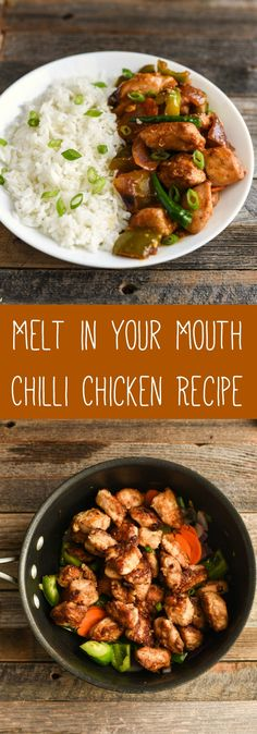 If you're a huge fan of Indo (Indian) Chinese food, this chilli chicken recipe is going to be one of your favorites! It's perfectly spicy and really easy to make. Tastes delicious over rice, noodles, or butternut squash.