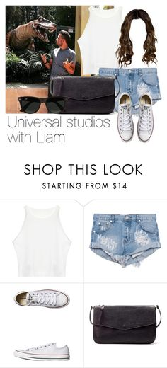 """""""Universal studios with Liam"""" by style-with-one-direction ❤ liked on Polyvore featuring OneTeaspoon, Converse, Zara, Ray-Ban, OneDirection, LiamPayne, 1d and liam payne one direction 1d"""