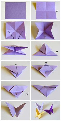 Mariposas De Papel en Pinterest   3d Origami y Plantilla De Mariposa