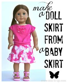 Make a Doll Skirt From a Baby Skirt