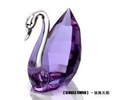 Purple Crystal Swan