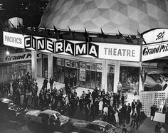 By the 1950's, more than half of movie productions were filmed in color. The rise in color production, Hollywood came up with wide screen motion pictures. The first widescreen process was Cinerama and appeared in 1952. A small number of films were shot in Cinerama. In 1954, CinemaScope emerged and became extremely popular with audiences.