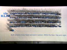 KLM Live Reply Human Billboard