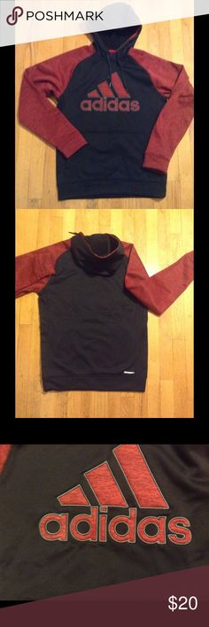 🆕 w/o Tags Men's adidas Climawarm Hoodie Men's size small adidas Climawarm hoodie in Crimson and black. New w/o tags. Adidas Sweaters